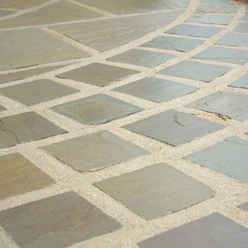 Raj Green Sandstone Cobble Stones