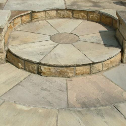 Raj Green Natural Stone Cirlces