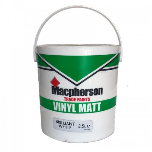 Vinyl Matt B White 2 5 Litre
