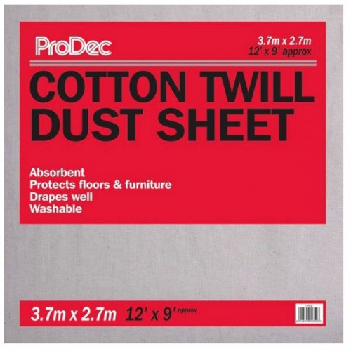 COTTON TWILL DUST SHEET