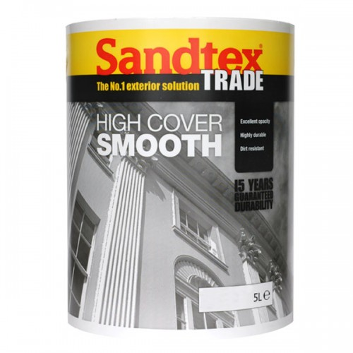 SANDTEX TRADE HIGH COVER SMOOTH WHITE 5 LITRE